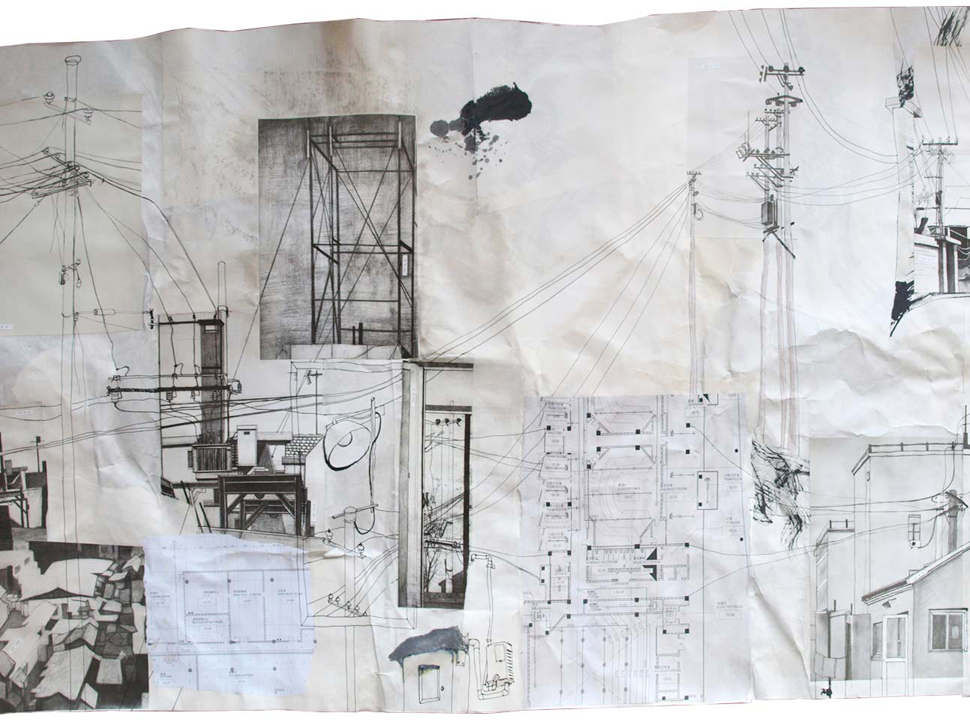 Hinchee-Hung-Shanghai-cabling-ink-collage