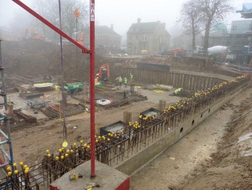 Construction progress in November 2015